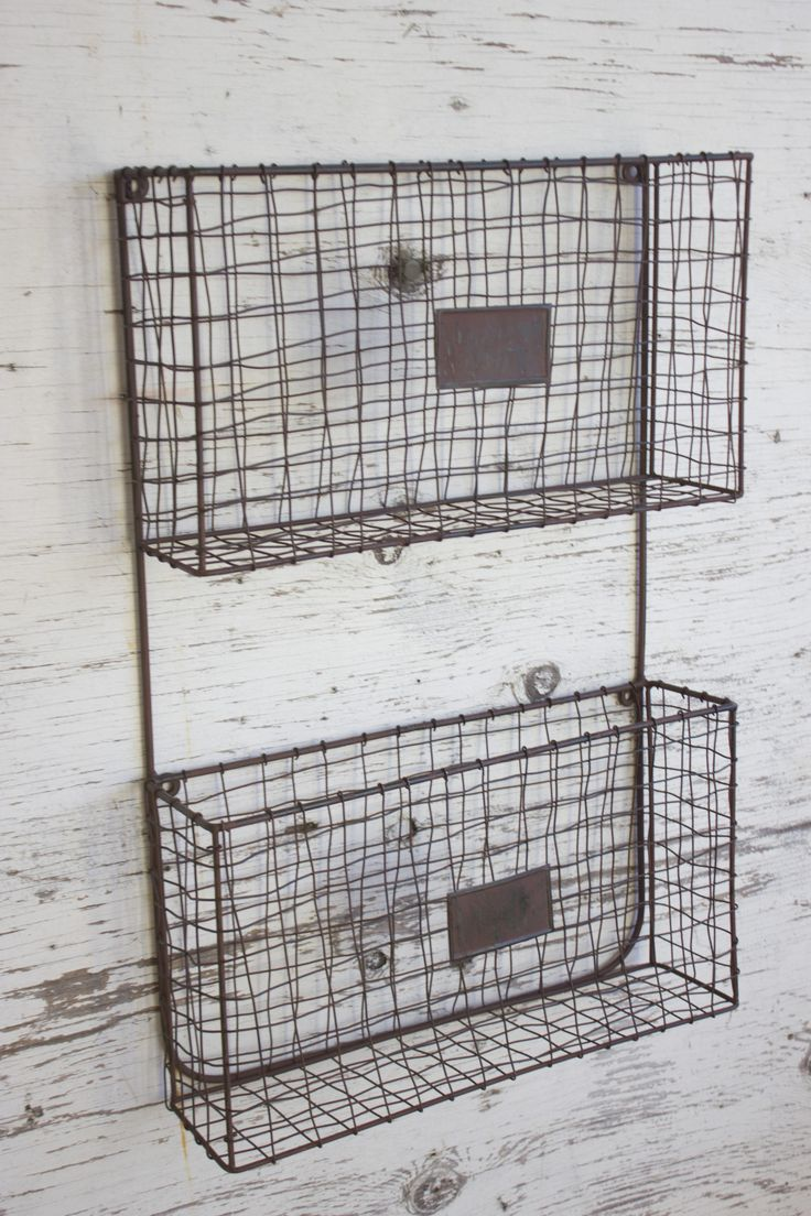 Stylish organization does exist! Make your office, kitchen, or child's room organized with this metal wall organizer. This basket is a must have! It's great for books, magazines, mail, or office files