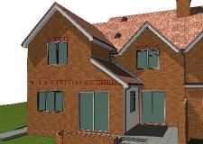 Example two storey side and rear house extension plans