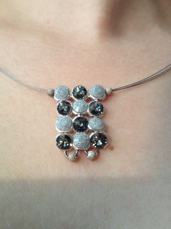 Statement Necklace with Swarovski Pendant & Sterling by ClarityGR, €33.00