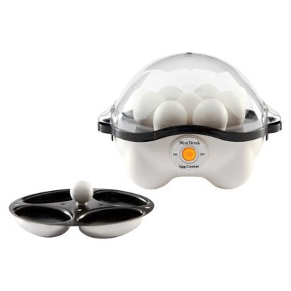 West Bend Automatic Egg Cooker: quicker and easier hard boiled and poached eggs. I need this!