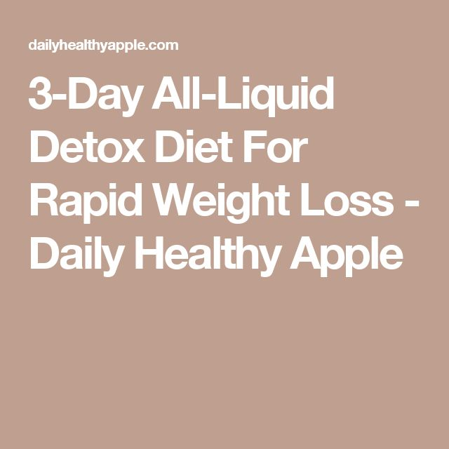 short term weight loss cleanse