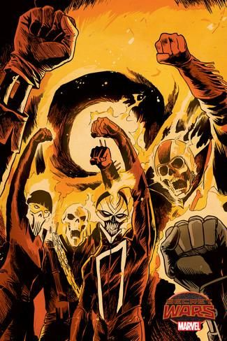 Marvel Secret Wars Cover, Featuring: Ghost Rider Poster