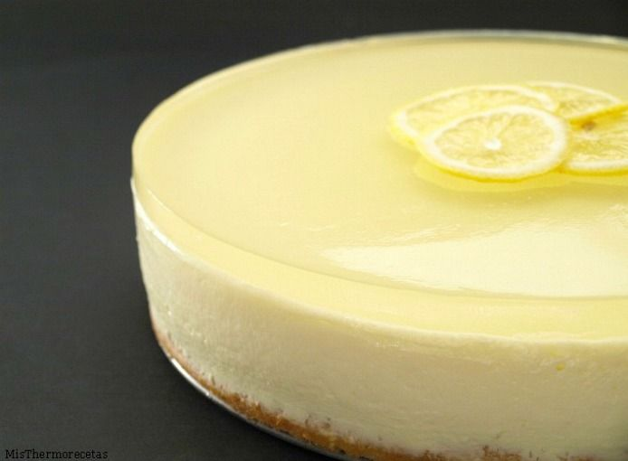 Lemon mousse cake with jelly gin and tonic - MisThermorecetas.com