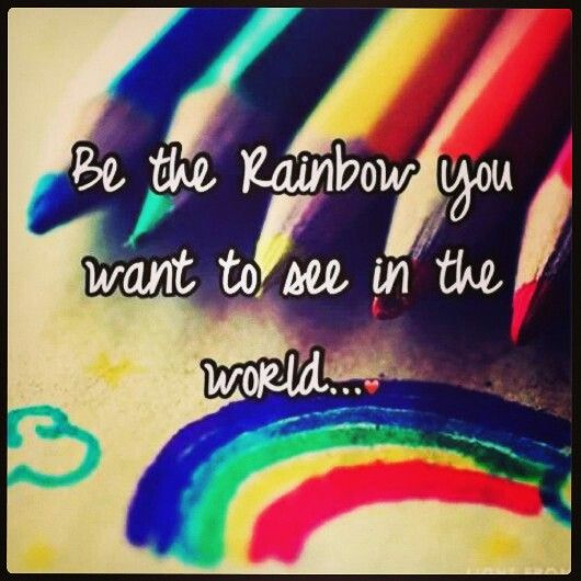 Inspirational Quotes About Positive: Rainbow Lgbt Quotes And Sayings. QuotesGram