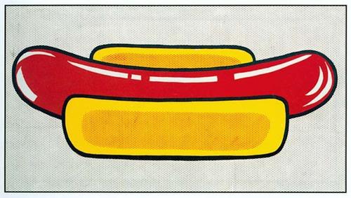 Roy Lichtenstein Hot Dog