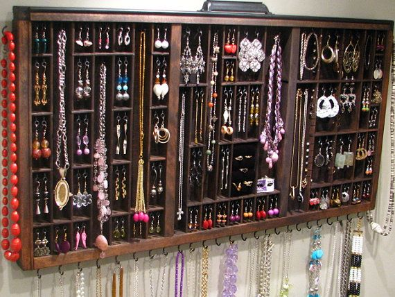 Jewelry Display with ring cubby