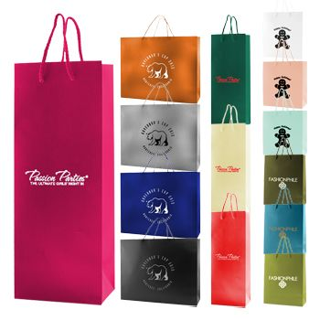 #ImprintedMatteLaminatedEurototesBags #MatteLaminatedEurototesBags #LaminatedEurototesBags #EurototeBags #CustomPaperBags #PaperBags This #matte laminated #Eurotote is great for use in carrying items from novelty stores, clothing outlets and more. The fashionable look with matching cotton macrame handles gives these bags a high-class style.