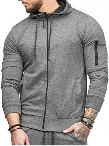 4565d3e1f Casual Pockets Zip Up Sports Hoodie | sweaters | Sports hoodies ...