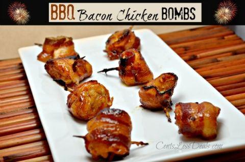 BBQ Bacon Chicken Bombs recipe | CentsLess Deals
