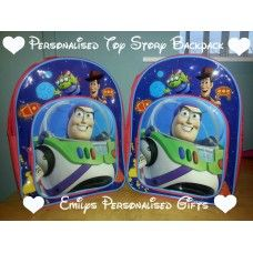 Lovely and Personalised Toy Story backpack £9.00 plus p+p (Personalised with fabric paint and covered in a fixing solution)