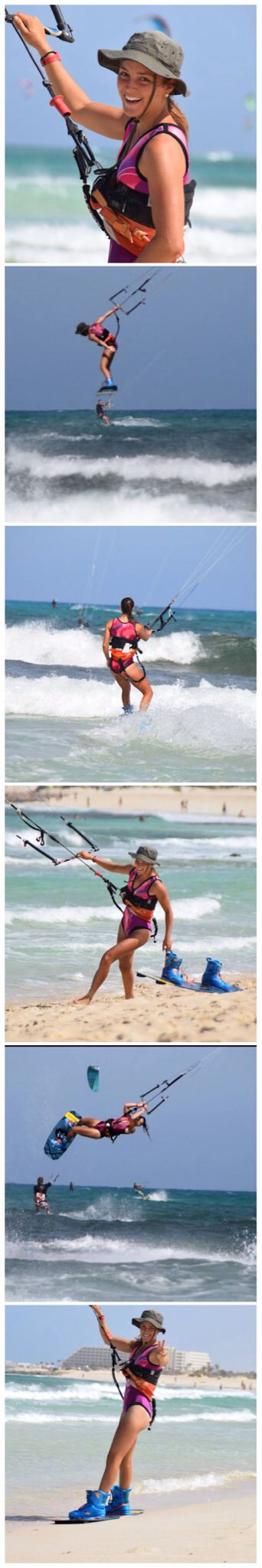 What a epic session! 20 years old wetsuit + hat+ girl jumping around= show for the whole beach