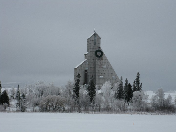 Timmins, Ontario  The McIntyre mine head frame in winter <3