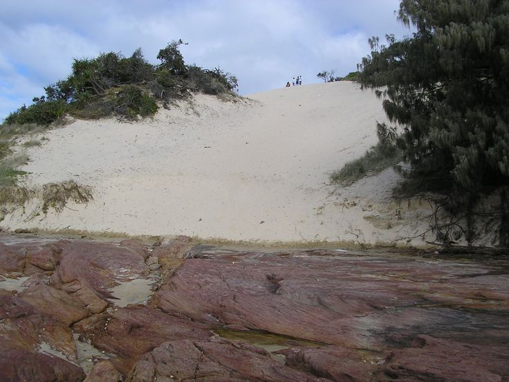The big sand hill at the end of Deadmans Beach.
