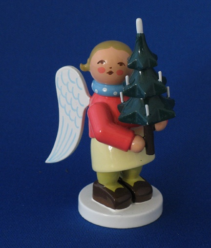 Wendt and Kühn Holiday Angel carrying Christmas tree.  Pinned by www.mygrowingtraditions.com