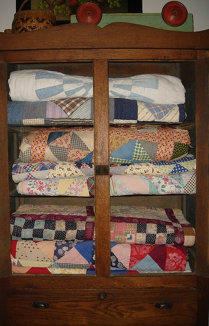 quilts in a pie safe