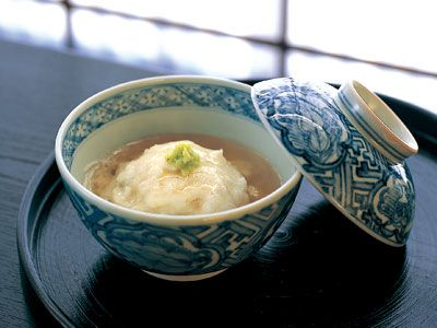 京のおばんざいレシピ  簡単かぶら蒸し  ◆すりおろしたかぶと具を蒸して、あんをかけていただくかぶら蒸し。ふんわりと口当たりよく蒸し上げます  ©きょうの料理