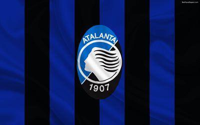 Scarica sfondi Atalanta, squadra di Calcio di Seria A, Italia, emblema Atalanta