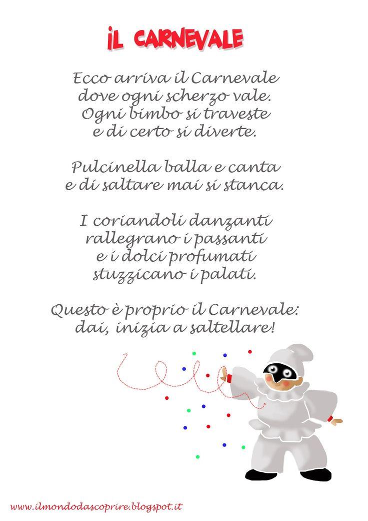 poesie o filastrocche carnevale - Cerca con Google