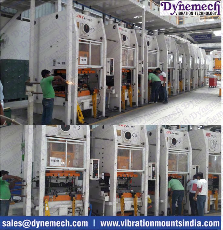 All Metal Forming #manufacturing produce very large impact forces . Avoid it #antivibration mounts #dynemech #vibrationmountsindia.com