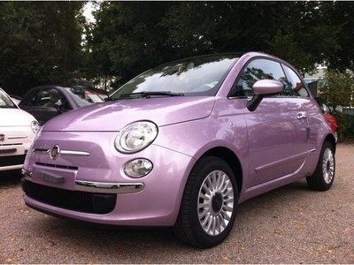 Fiat 500 1.2 Lounge Dualogic  purple pop. Love the color!