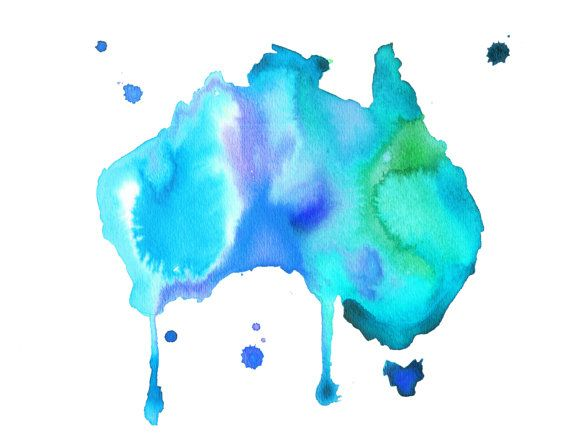 Watercolor Australia Travel Illustration - Australian Dreams No. 3 print