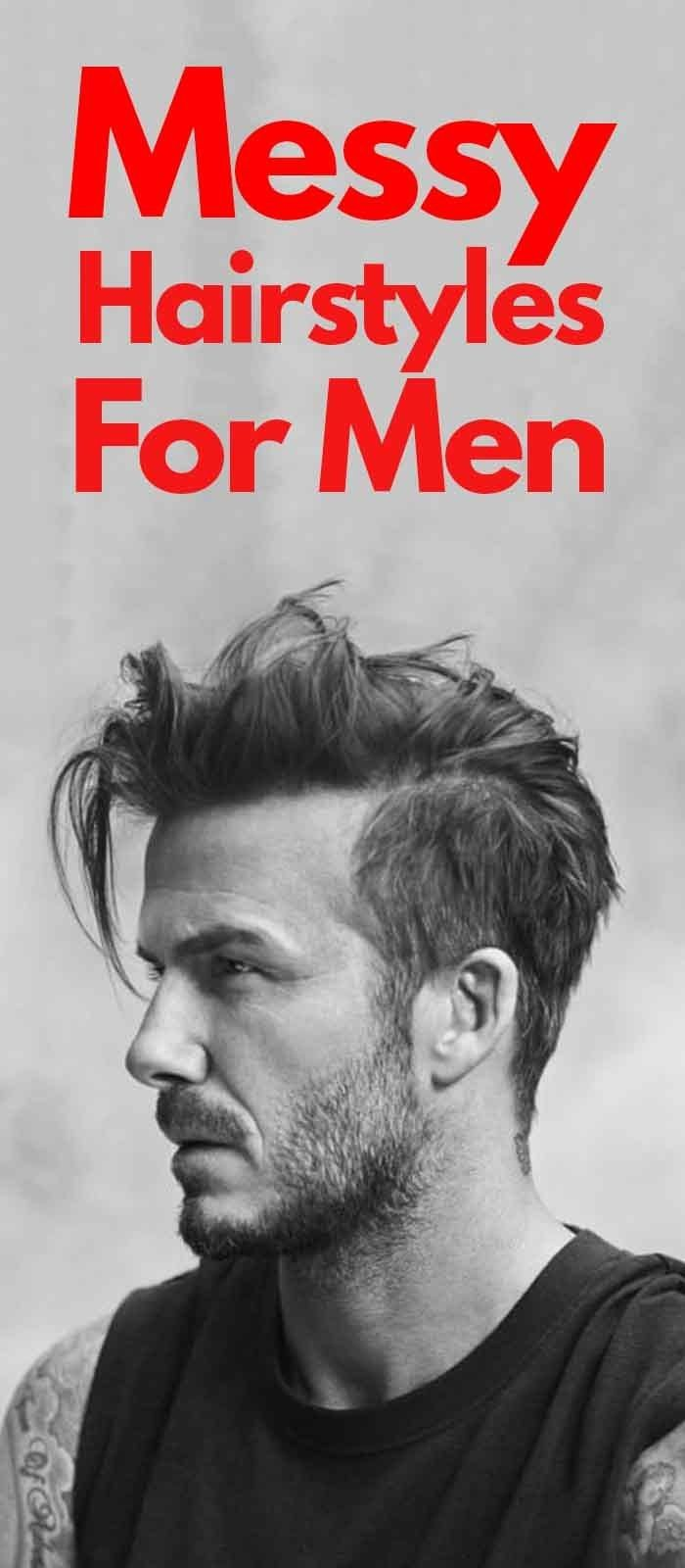 30 Messy Hairstyles For Men That Are Stylish Too in 2019   – peinados