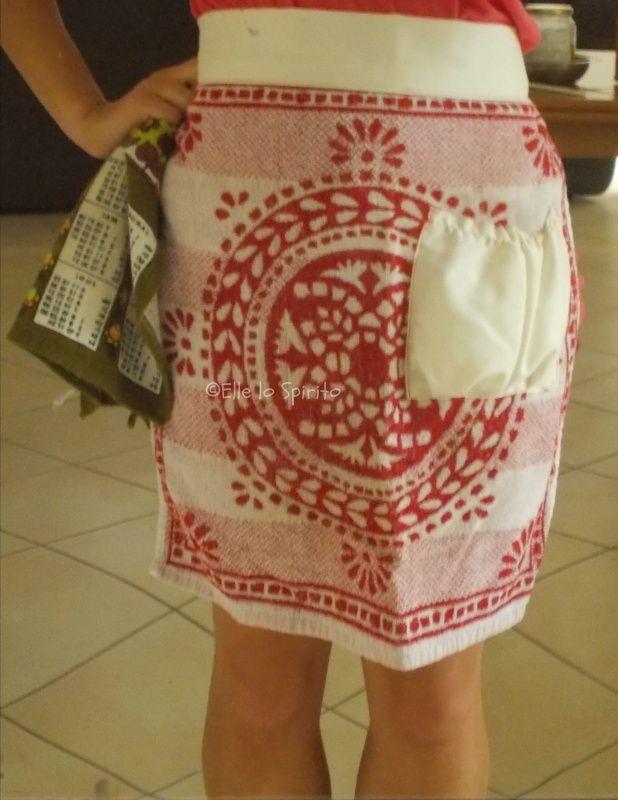 Cucito per la casa: come fare un grembiule da cucina da un asciugamano.