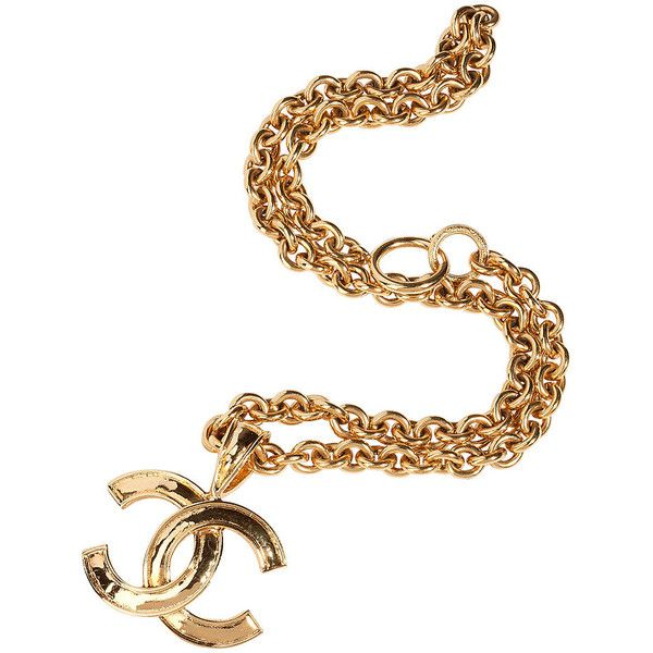 Chanel Vintage Jewelry Golden Coco Chanel Pendant Necklace | STYLEBOP.co.uk