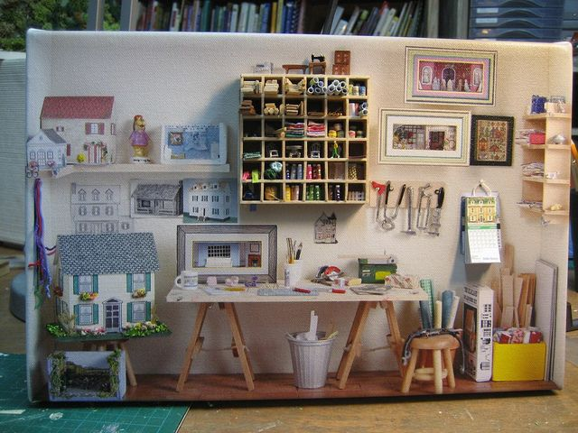 my workroom | Flickr - Photo Sharing! difficult to see which is painted and which is 1/12 miniatures