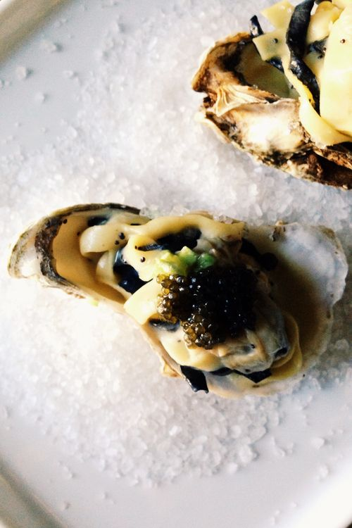 From Marco Pierre White's White Heat: Tagliatelle of Oysters with Caviar