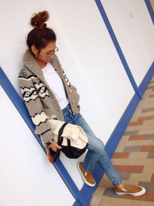 TODAYFULのその他アウター「カウチンニット」を使ったkayoのコーディネートです。WEARはモデル・俳優・ショップスタッフなどの着こなしをチェックできるファッションコーディネートサイトです。