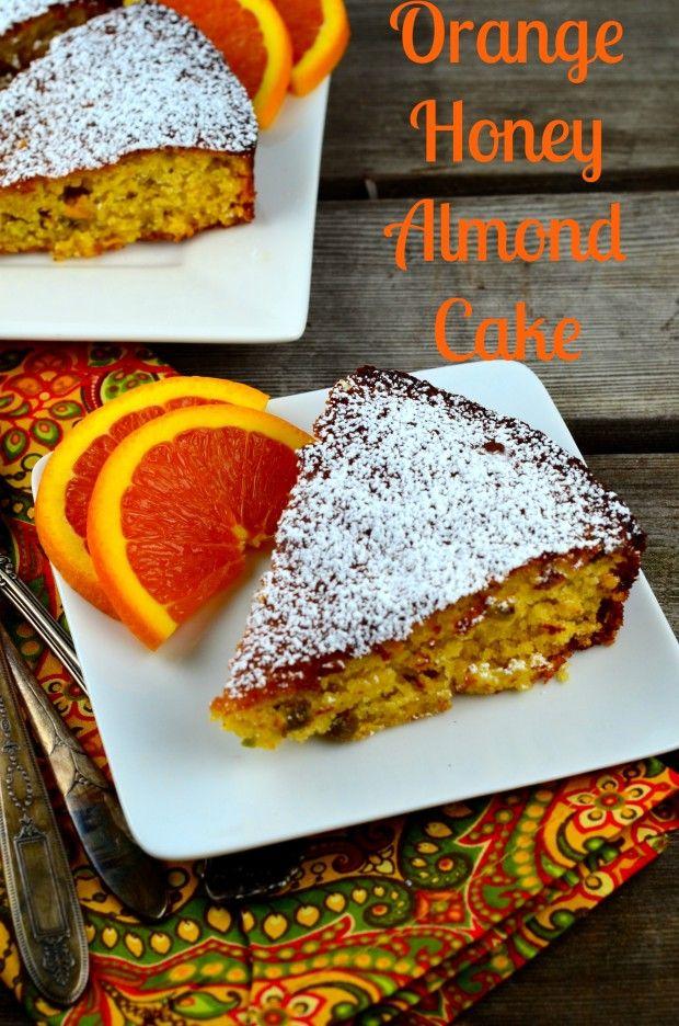 May I Have That Recipe   Orange Honey Almond Cake   http://mayihavethatrecipe.com