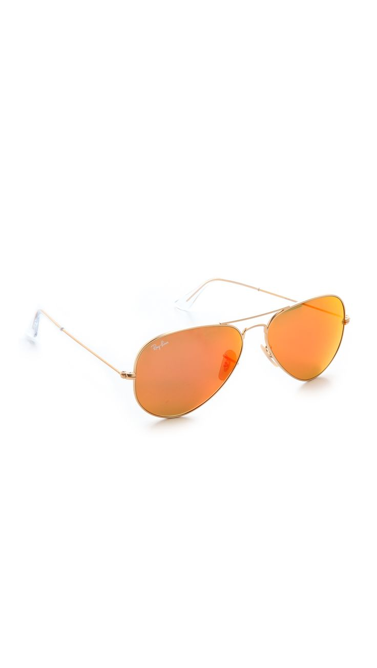 Ray-Ban Зеркальные матовые классические очки-авиаторы