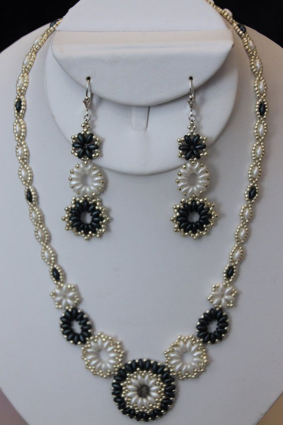 Medallion Necklace & Earring Set by AngelWhispersJewelry on Etsy, $110.00