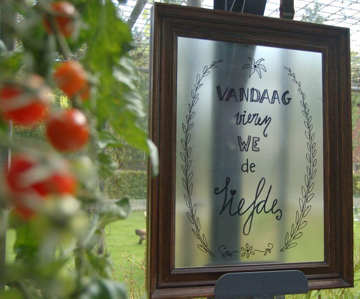 Tekst bord bruiloft
