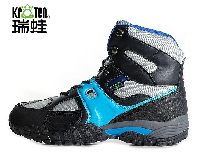 Мужчины высокая верхний натуральная кожа альпинизм для охоты походные ботинки обувь на открытом воздухе скольжение круто-устойчивых водонепроницаемый горные ботинки обувь