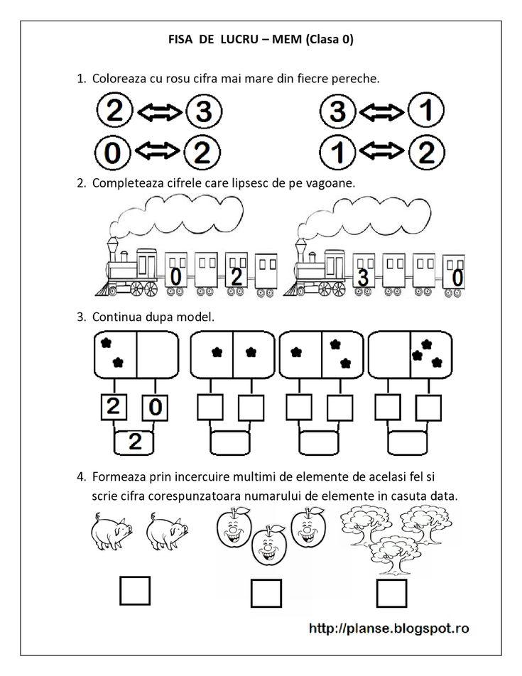 FISE de lucru MEM - Matematica Clasa Pregatitoare - Multimi, Comparari, Numere pare / impare | Fise de lucru - gradinita