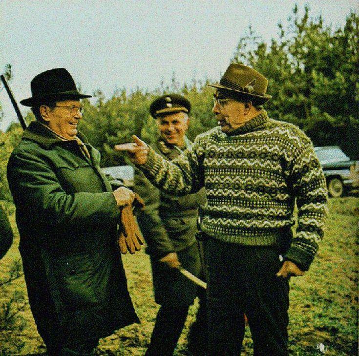 Брежнев и Иосип Броз Тито на охоте