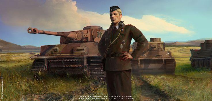 """Otro concept para """"Citadel"""" de Imperial Design LLC, en esta ocasión se trata del joven Sebastian, un oficial del bando nazi a cargo de una brigada de los temibles Tigers alemanes en los campos ruso..."""