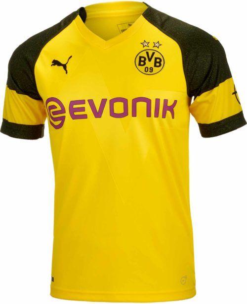 2018 19 Puma Borussia Dortmund Home Jersey. Get it from www.soccerpro.com 9b15547eade28