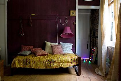 48 best purple walls images on pinterest for Deep purple bedroom ideas