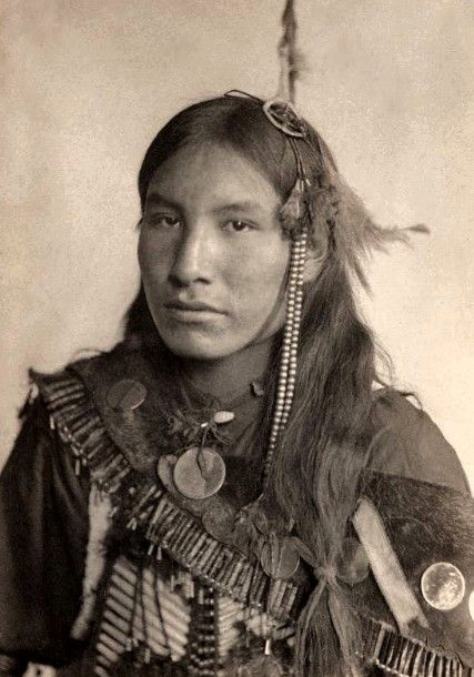 He speaks through his photo. Kills First, Sioux. Photographed in 1898 by Gertrude Kasebier
