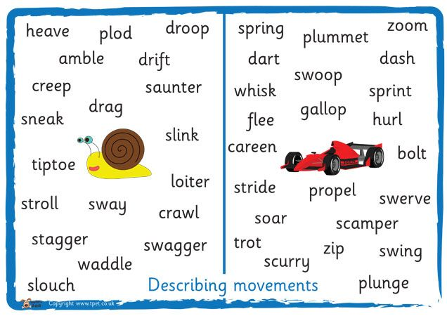 Descriptive movement words
