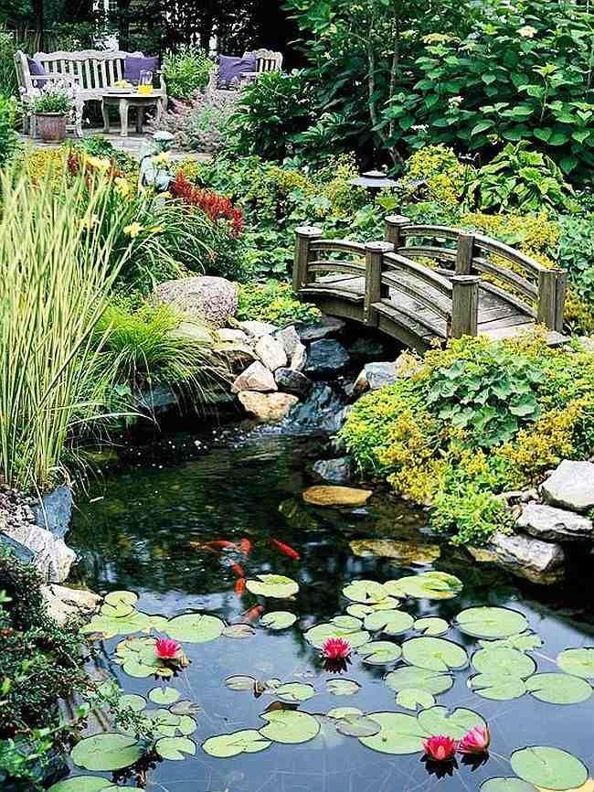 Les 25 meilleures id es de la cat gorie pont en bois sur pinterest terrasse ext rieure - Bassin jardin bois reims ...
