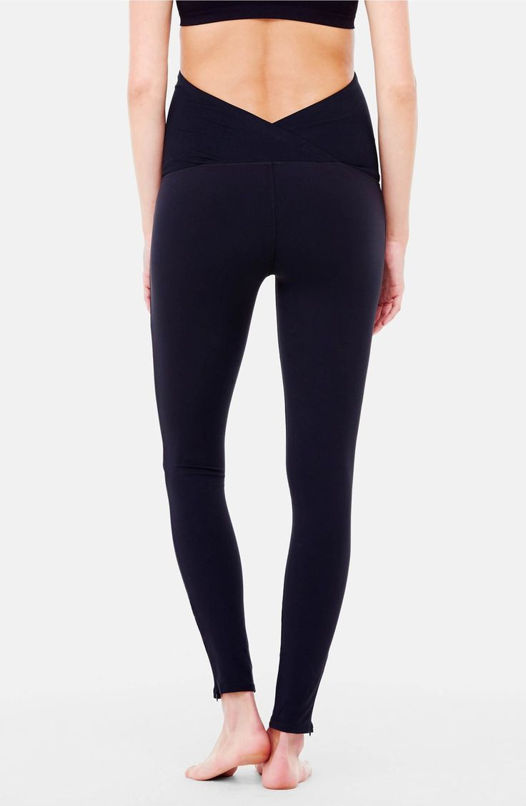 Main Image - Ingrid & Isabel® 'Active' Maternity Leggings with Crossover Panel