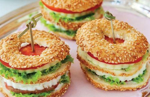 Kahvaltılık simit sandviç tarifi
