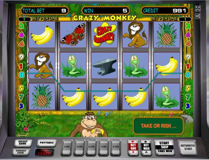 Crazy monkey обезьянки игровой автомат вконтакте