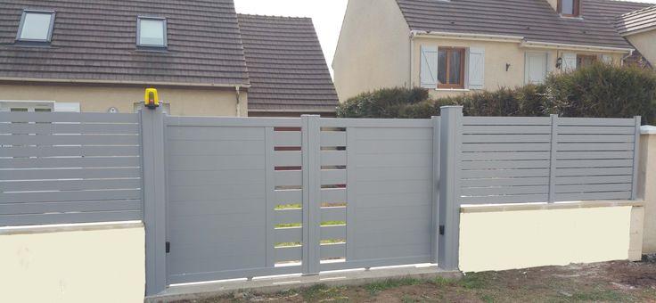 les 67 meilleures images du tableau portail aluminium sur pinterest portail aluminium oise et. Black Bedroom Furniture Sets. Home Design Ideas
