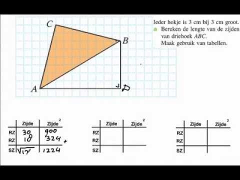 Lengtes van zijden berekenen - YouTube