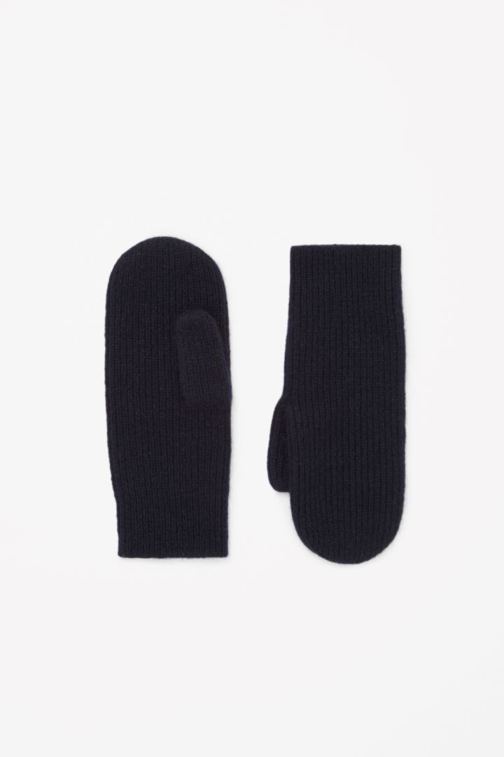 COS | Ribbed cashmere mittens